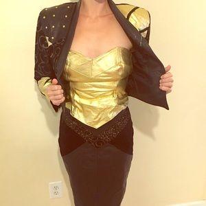 3 Piece Genuine Leather Vintage Wonder Woman Suit